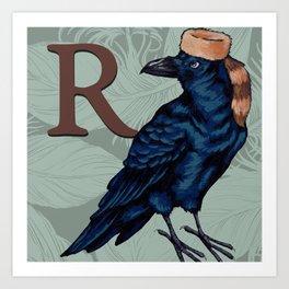 Alpabetical Birds: R Art Print