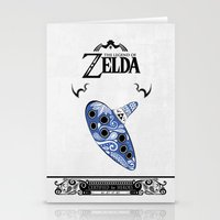 majora Stationery Cards featuring Zelda legend - Ocarina of time by Art & Be