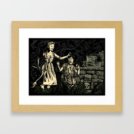 Hansel and the Witch Framed Art Print