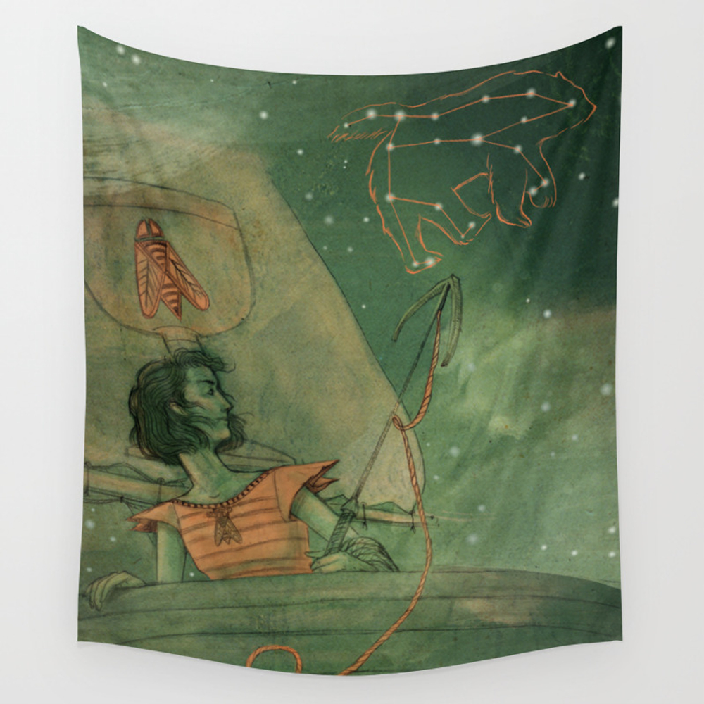Knight Of Cups Wall Tapestry by Edencooke TPS3002441
