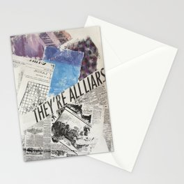THEY'RE ALL LIARS Stationery Cards