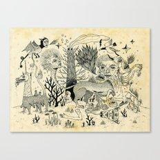 Grotesque Flora and Fauna Canvas Print