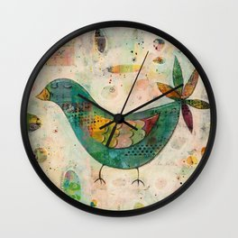 Blue(ish) Bird Wall Clock