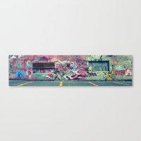 grafitti Canvas Prints featuring Grafitti by jhoffmandesigns