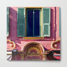Colors of Maison Bonifassi in Vieux Nice Metal Print