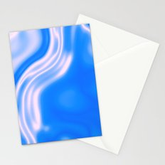 blue and white waves Stationery Cards