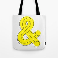 ampersand Tote Bags featuring Ampersand by MADEYOUL__K