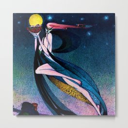 Classical Masterpiece 'In Powder and Crinoline' by Kay Nielsen Metal Print