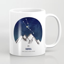 Astrology Taurus Zodiac Horoscope Constellation Star Sign Watercolor Poster Wall Art Coffee Mug