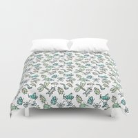bugs Duvet Covers featuring Bugs by Jen Gottlieb