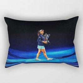 Naomi Osaka Champion Rectangular Pillow