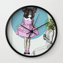 Pretty Chauncey Princess - French Bulldog Wall Clock
