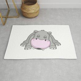 Handsome Hippo Rug
