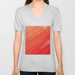 warm colors orange and red abstract Unisex V-Neck