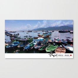 Sampans at Cheung Chau, Hong Kong Canvas Print