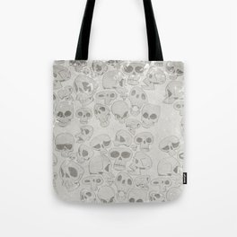 Skulls Pattern Tote Bag