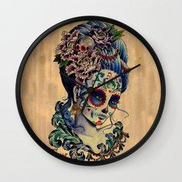 Marie de los Muertos Wall Clock