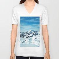 alaska V-neck T-shirts featuring Alaska by Elise Giordano