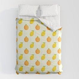 Happy Orange and Lemon Comforters