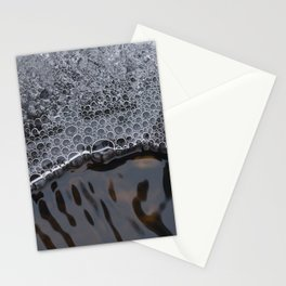 Ice and water flow Stationery Cards
