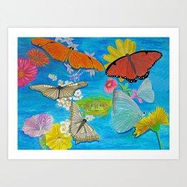 Butterfly dance Art Print
