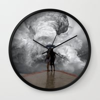 storm Wall Clocks featuring Storm by Cs025