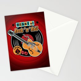 Heart of Rock 'n Roll Stationery Cards