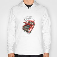 mini cooper Hoodies featuring Mini Cooper Classic in Red by Swasky