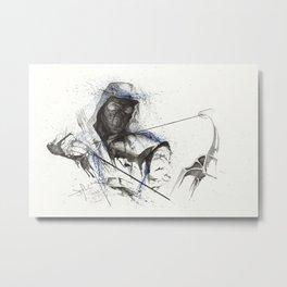 Dark Archer Splatter Art 1 Metal Print