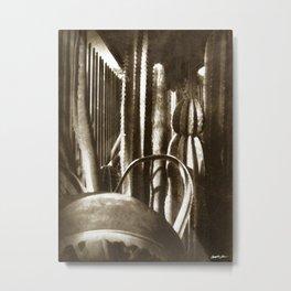 Cactus Garden Antiqued Metal Print