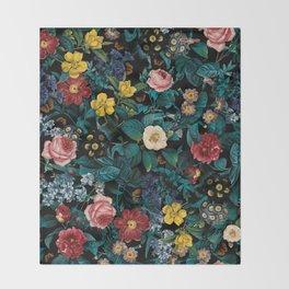 Night Garden XXV Throw Blanket