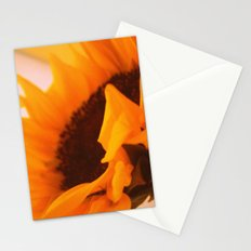 SunflowerPower ~ retro sunny orange flower Stationery Cards
