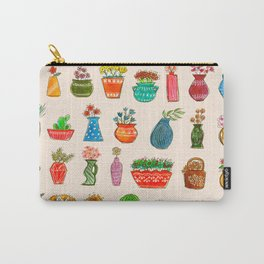 Happy Vases Carry-All Pouch