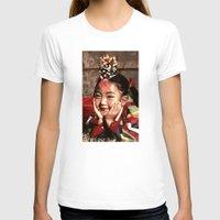 korean T-shirts featuring Korean Dancing Girls II by Robert S. Lee Art