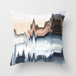 A Mountain in Winter Throw Pillow