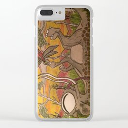 Playful Monster Clear iPhone Case