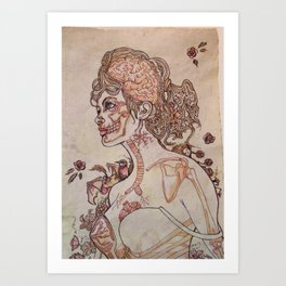 Anatomy of a Pinup Art Print