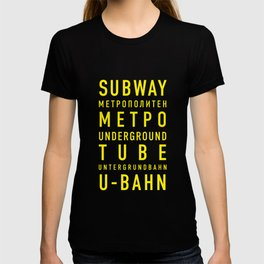 Subway. Метро. U-Bahn T-shirt