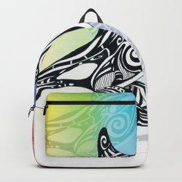 Orca Whale Rainbow Tribal Tattoo Art Backpack