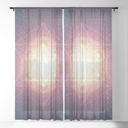 Divine Consciousness Sheer Curtain