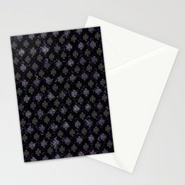 Endless Knot pattern - Silver and Amethyst Stationery Cards