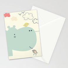 Hippy Hippo Stationery Cards