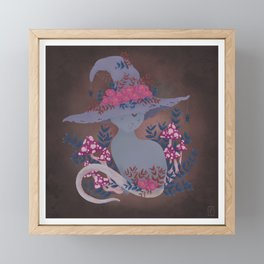 Feline Familiar Framed Mini Art Print