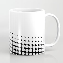 Diagonal  B and W Half Tone Coffee Mug