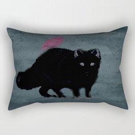 Cat and bird friends! Rectangular Pillow