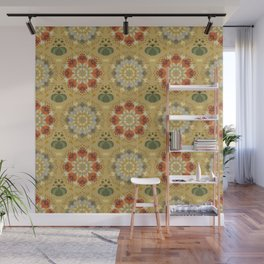 Autumn flower pattern 1c Wall Mural