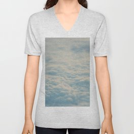 above the clouds ... Unisex V-Neck