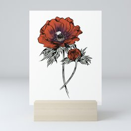 White as Milk, Red as Blood: Flower Mini Art Print