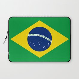Brazilian National flag Authentic version (color & scale) Laptop Sleeve