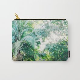 Lost in the jungle bright green tropical palm tree forest photography Carry-All Pouch